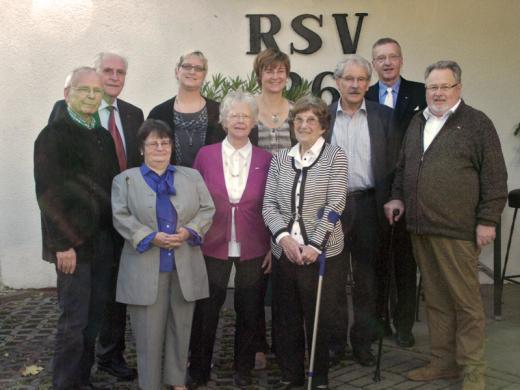 Jubilare 2013 mit Vorstandsmitgliedern
